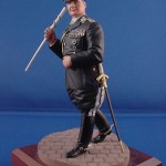 "On May 22, 1939, Field Marshal Hermann Goring wore his black ceremonial uniform for the signing of the ""Pact of Steel"" military alliance between Germany and Italy. He also was depicted in a full-color artist's portrait in this uniform. This is a 120mm Verlinden resin kit sculpted to reflect the Field Marshal's reviewing of troops in Austria in 1938 (from a photo). By: Ed Wahl"