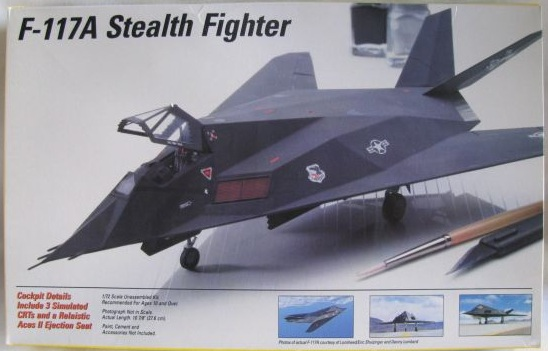 F-117A stealth fighter: Testors/ Italeri