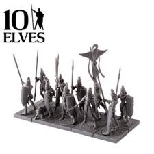 10 Spearmen Command Elves: Kings of War