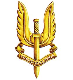 U.K. ARMY SPECIAL FORCES S.A.S. BADGE